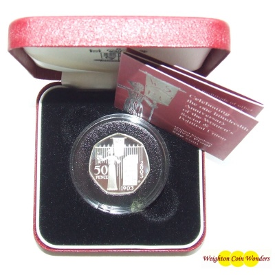 2003 Silver Proof 50p – Suffragette